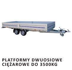 Platformy dwuosiowe ciężarowe do 3500kg