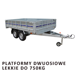 Platformy dwuosiowe lekkie do 750kg