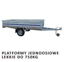 Platformy jednoosiowe lekkie do 750kg